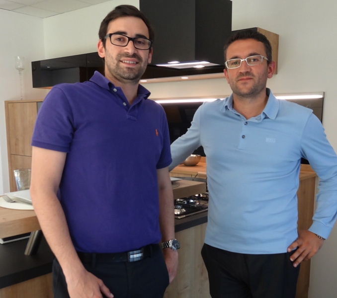 Fabrice Farjot et Florian Elbaz Nolte Küchin Villefranche