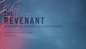 THE REVENANT une affiche minimaliste du prochain Inarritu avec DiCaprio 49859
