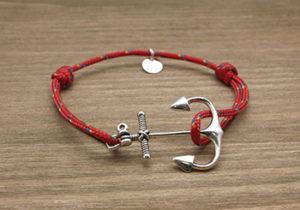 ARMA BLU villefranche bijoux bracelet marin rouge