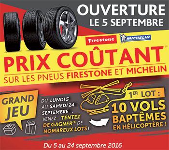 Roady centre auto villefranche promo pneu firestone michelin septembre 2016