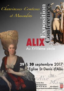 conference exposition ALIX au XVIIIe siecle