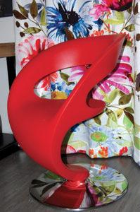 tissus deco anse fauteuil rouge