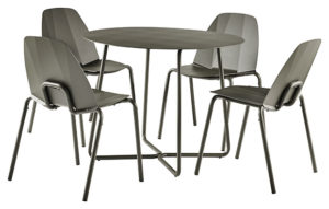 Table repas + Chaise empilable Sillages x4