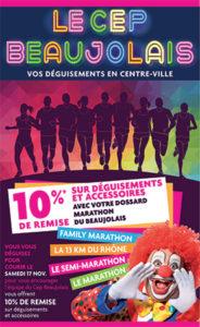Cep beaujolais villefranche deguisement marathon promo magasin