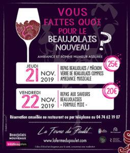 FERME POULET beaujolais nouveau 2019 pub BN338