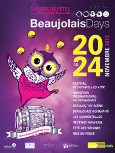 affiche beaujolais days 2019