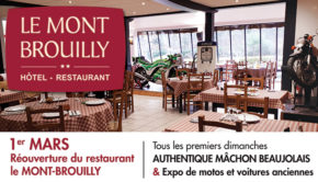 intro restaurant Le Mont Brouilly quincie en beaujolais ouverture 1re mars 2020