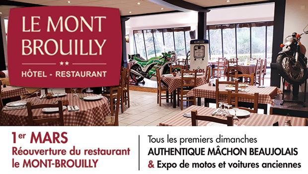 intro restaurant Le Mont Brouilly quincie en beaujolais ouverture 1re mars 2020