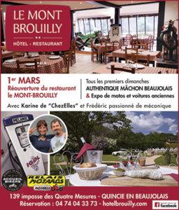 restaurant Le Mont Brouilly quincie en beaujolais pub BN342