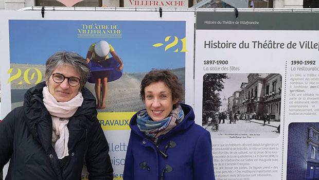 intro theatre villefranche equipe administrative Roseline Mouton et Claire Catta