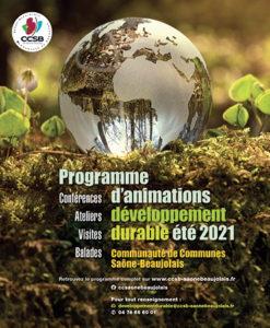 CCSB AFFICHE programme developpement durable ete 2021